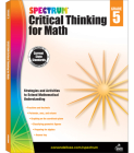 Spectrum Critical Thinking for Math, Grade 5 Cover Image