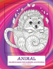 Coloring Book for Markers and Pencils - Animal - Large Print Cover Image