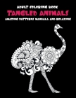 Adult Coloring Book Tangled Animals - Amazing Patterns Mandala and Relaxing Cover Image