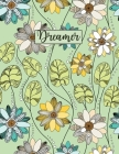 Dreamer: Wide Ruled Paper with colored flowers on the corner 8.5 x 11 150 Pages, Perfect for School, Office and Home Cover Image