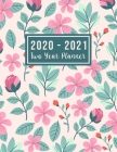 2020-2021 Two Year Planner: 2020-2021 two year planner flower watecolor cover - 24-Month Planner & Calendar. Size: 8.5