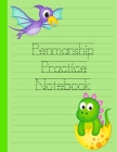 Penmanship Practice Notebook: Dotted Mid Line Pages Alphabet Numbers Sight Words Basic Sentences Cover Image