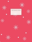 Graph Composition Notebook: Grid Paper Notebook: Large Size 8.5x11 Inches, 110 pages. Notebook Journal: Red Background Snow Workbook for Preschool Cover Image
