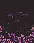 Budget Planner: Weekly and Monthly Financial Organizer Savings - Bills - Debt Trackers Modern Grey & Purple Watercolor Cover Image