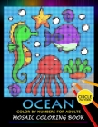 Ocean Color by Numbers for Adults: Mosaic Coloring Book Stress Relieving Design Puzzle Quest Cover Image