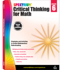 Spectrum Critical Thinking for Math, Grade 6 Cover Image