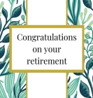Retirement Guest Book with lined pages (hardback) Cover Image