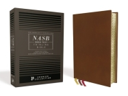 Nasb, Thinline Bible, Premium Goatskin Leather, Brown, Premier Collection, Black Letter, Gauffered Edges, 2020 Text, Comfort Print Cover Image