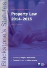 Blackstone's Statutes on Property Law 2014-2015 Cover Image