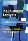 Input-Output Analysis: Foundations and Extensions Cover Image