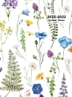 2021-2022 Academic Planner: Large Weekly and Monthly Planner with Inspirational Quotes and Floral Cover Volume 2 (Hardcover) Cover Image