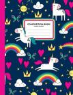 Composition Book: Unicorn Theme Wide Ruled Writing Notebook for School Assignments, Lists, or Notes Cover Image