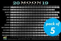 2019 Moon Calendar Card (5 pack): Lunar Phases, Eclipses, and More! Cover Image