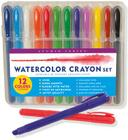 Studio Series Watercolor Crayon Set (12 Water Soluble Gel Crayons) Cover Image
