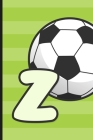 Z: Soccer Monogram Letter Z Initial Notebook - 6