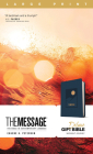 The Message Deluxe Gift Bible, Large Print (Leather-Look, Navy): The Bible in Contemporary Language Cover Image