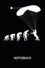 Notizbuch: Fallschirmspringer - Evolution of Skydiver - 110 karierte Seiten im A5 Format Cover Image