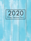 2020 Weekly Appointment Planner: Blue Wood, 2020 Daily Appointment Planner Hourly, 52 Weeks Monday To Sunday 8AM - 9PM In 15 Minutes Time Slot for Sal Cover Image