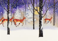 Deer in Snowfall Deluxe Boxed Holiday Cards Cover Image