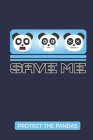 Save Me - Protect The Pandas: 2019-2020 Academic Year Planner, Datebook, And Homework Scheduler For Middle And High School Students, Teachers, And B Cover Image