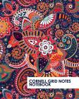 Cornell Grid Notes Notebook: Pretty Red Paisley Grid Notebook Supports a Proven Way to Improve Study and Information Retention. Cover Image