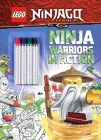 LEGO(R) NINJAGO(R): Ninja Warriors in Action (Coloring Books with Covermount) Cover Image