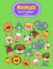 Animals Coloring Book for Kids: 55 Cute Coloring Pages with cute Animals for kids animals coloring book for kids ages 3-7 animals coloring book for bo Cover Image