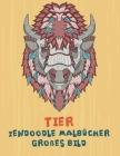 Zendoodle Malbücher - Großes Bild - Tier Cover Image