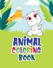 Animal coloring book: Amazing coloring book for adults with animals and monsters Cover Image