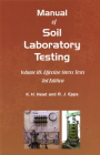 Manual of Soil Laboratory Testing Cover Image