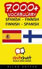 7000+ Spanish - Finnish Finnish - Spanish Vocabulary Cover Image