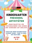 Kindergarten Workbook: Our worksheets include exercises in; English, Symmetry, Simple Math, Sudoku, Find the Difference and much more.... Cover Image