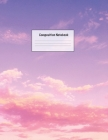 Composition Notebook: Wide Ruled Lined Paper: Large Size 8.5x11 Inches, 110 pages. Notebook Journal: Purple Sunset Sky Workbook for Preschoo Cover Image