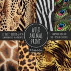Wild Animal Print Scrapbook Paper Pad 8x8 Scrapbooking Kit for Papercrafts, Cardmaking, Printmaking, DIY Crafts, Nature Themed, Designs, Borders, Back Cover Image