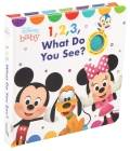 Disney Baby: 1, 2, 3 What Do You See? (Cloth Flaps) Cover Image