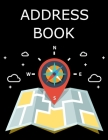 Address Book: with Tabs, Large Print Address Books, A Personal Organizer for Addresses, Social Media Handles and Notes Cover Image