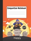 Composition Notebook: Halloween & Cat Themes Style, 8.5
