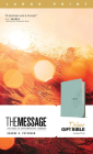 The Message Deluxe Gift Bible, Large Print (Leather-Look, Teal): The Bible in Contemporary Language Cover Image
