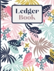 Ledger Book: Record Income and Expenses 8.5 x 11 Large Print Notebook Cover Image