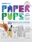 Paper Pups 3-D Coloring! Cover Image