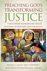 Preaching God's Transforming Justice: A Lectionary Commentary, Year B Cover Image
