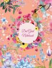 Dot Grid Notebook: Cute Colorful Flowers, 8.5