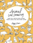 Animal Line Drawing: Learn 150+ Step-by-Step Animals, Insects, Birds, Fish, and Other Cuties Cover Image