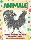 Libri da colorare Zen per il relax degli adulti - Impostare Mandala e motivi - Animale Cover Image