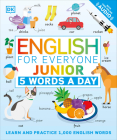 English for Everyone Junior: 5 Words a Day: Learn and Practice 1,000 English Words Cover Image