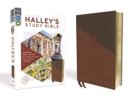 Niv, Halley's Study Bible, Leathersoft, Brown, Red Letter Edition, Comfort Print: Making the Bible's Wisdom Accessible Through Notes, Photos, and Maps Cover Image