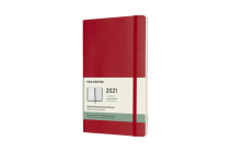Moleskine 2021 Weekly Planner, 12M, Large, Scarlet Red, Soft Cover (5 x 8.25) Cover Image