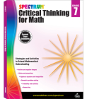 Spectrum Critical Thinking for Math, Grade 7 Cover Image