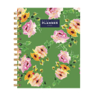 Cal 2022- Floral Green Best Life Daily Weekly Monthly Luxe Planner Cover Image