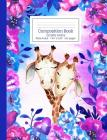 Composition Book Purple Pink & Blue Floral Tie Dye Pattern Giraffe Aloha Wide Ruled Cover Image